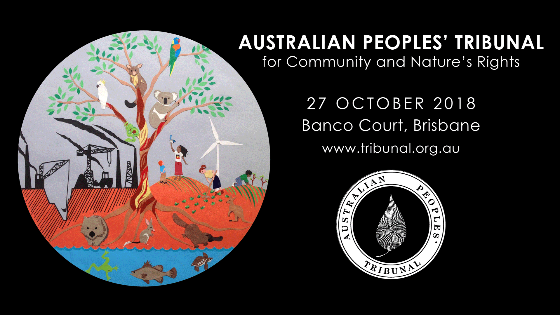 2018 Australian Peoples' Tribunal poster